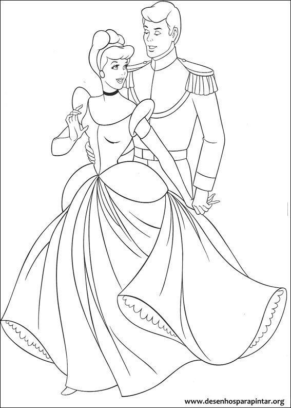 Cinderela Disney Desenhos Colorir Pintar Sam La Casa De Papel