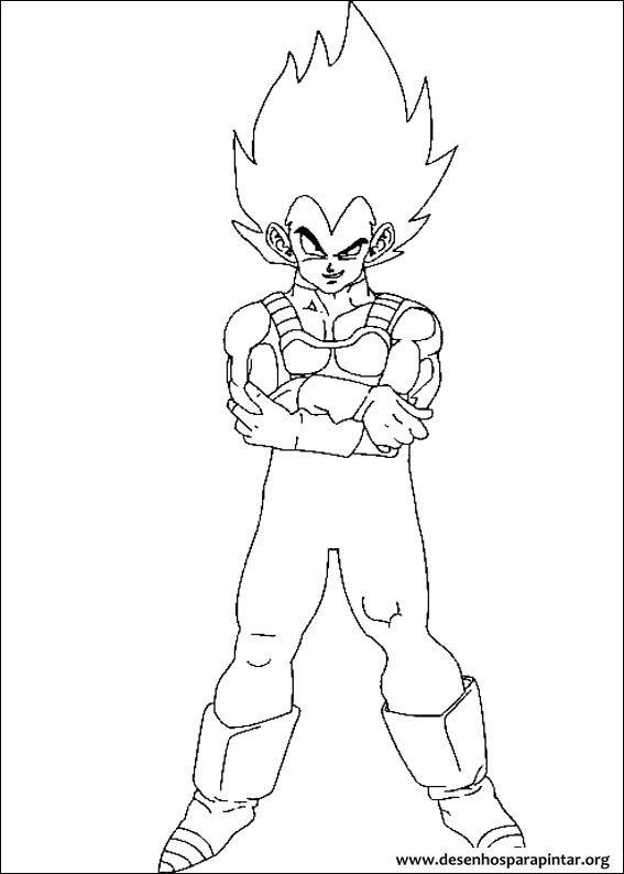 Dragon Ball Z Desenhos Para Imprimir Colorir E Pintar Do Goku