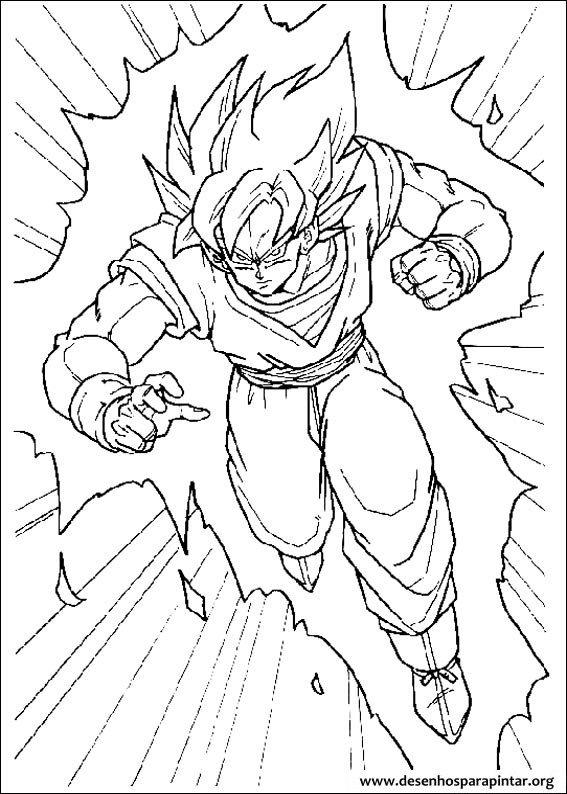 Dragon Ball Z Desenhos Para Imprimir Colorir E Pintar Do