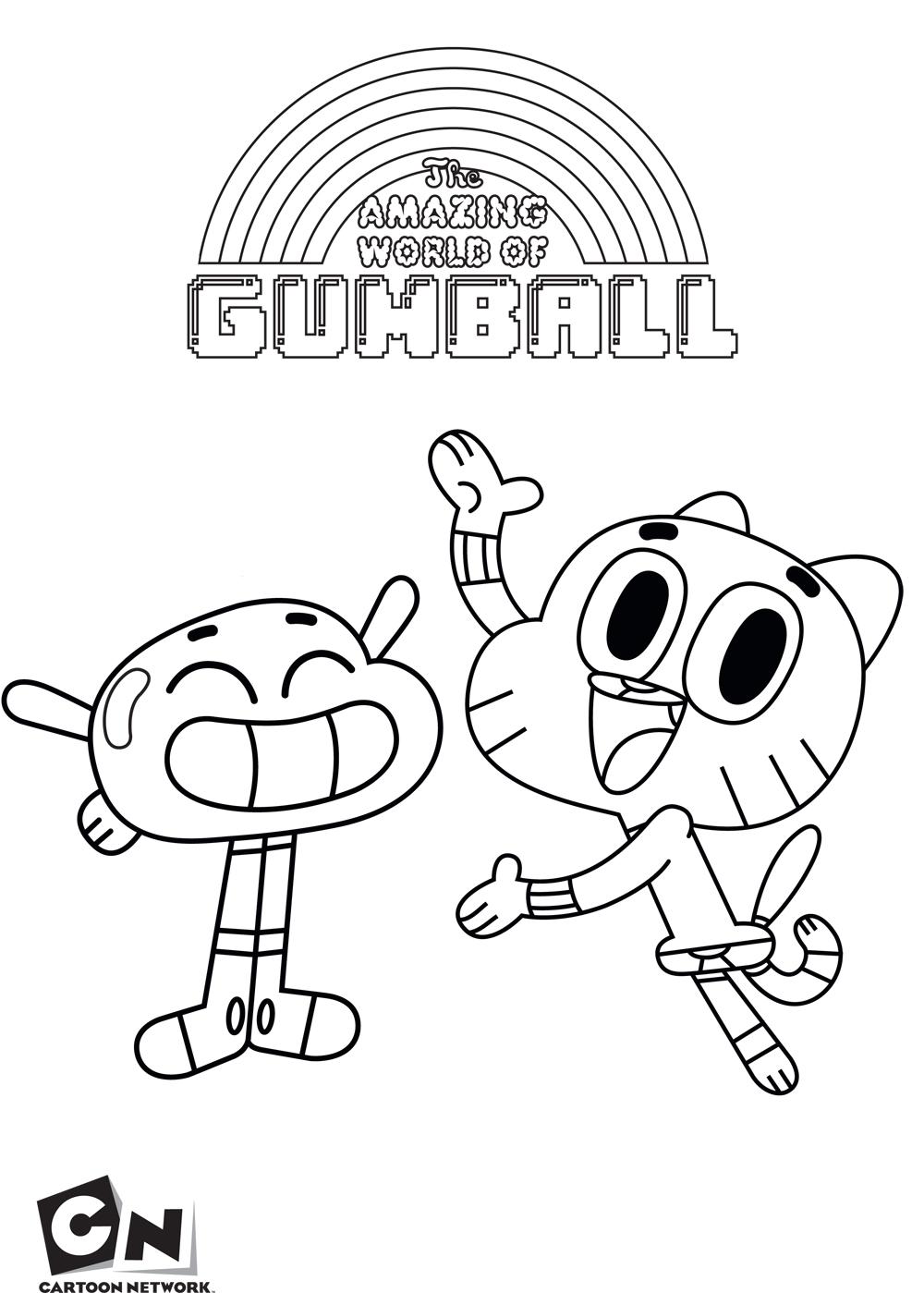 O incr vel mundo de gumball desenhos para imprimir for Coloring pages cartoon network