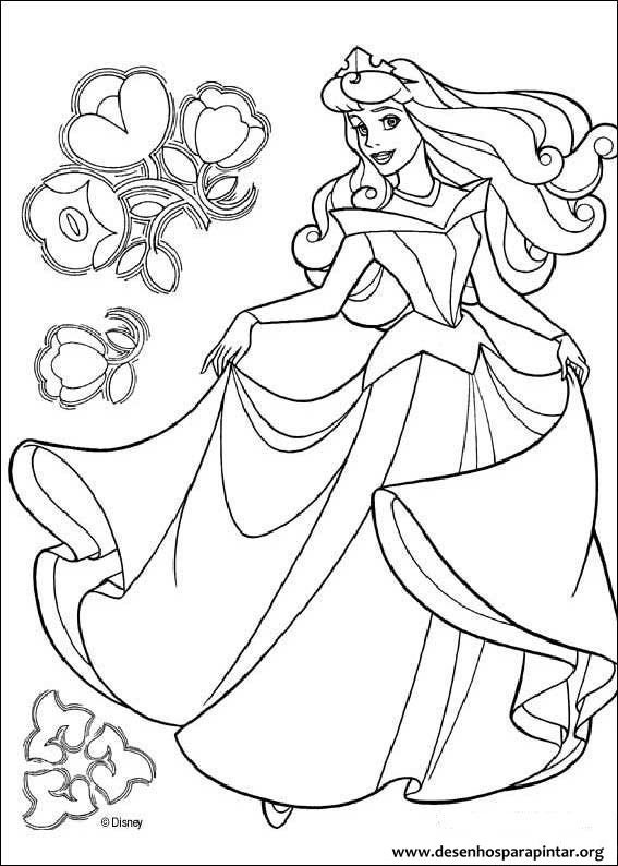 Princesa Aurora A Bela Adormecida Desenhos Para Imprimir