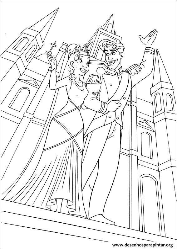 Tiana A Princesa E O Sapo Desenhos Para Imprimir Colorir E