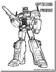 optimus prime desenhos para pintar e colorir