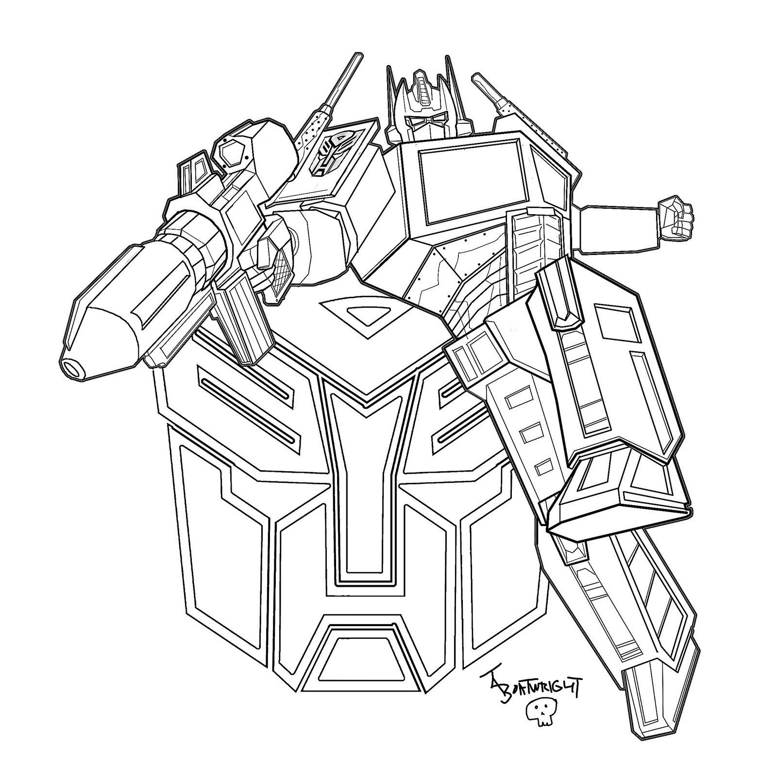 Transformers Desenhos Para Imprimir Colorir E Pintar Dos Autobots E