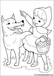 Lobo Mal Desenhos Para Pintar E Colorir