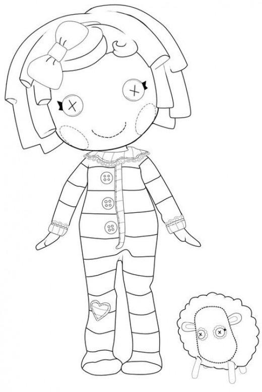 Lalaloopsy desenhos para imprimir colorir e pintar das for Lalaloopsy coloring pages