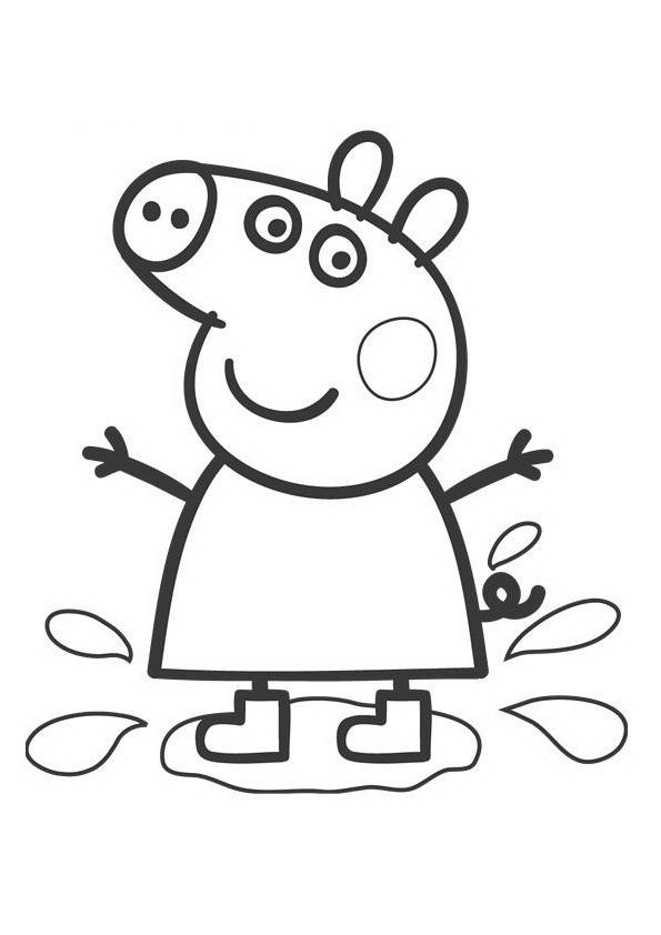 Peppa Pig desenhos para imprimir colorir e pintar