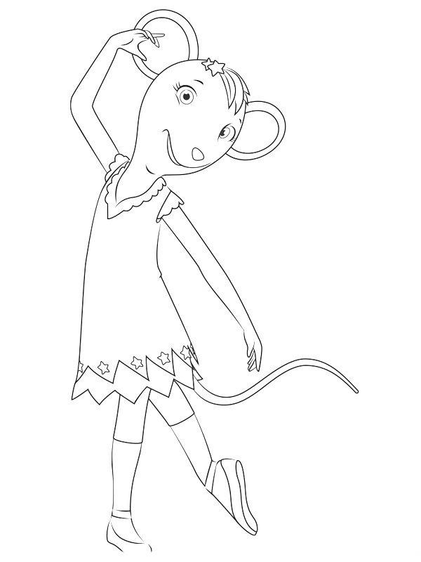 angelina ballerina desenhos para imprimir colorir e pintar