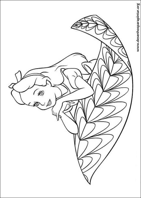 Alice No Pais Das Maravilhas Desenhos Para Imprimir Pintar E