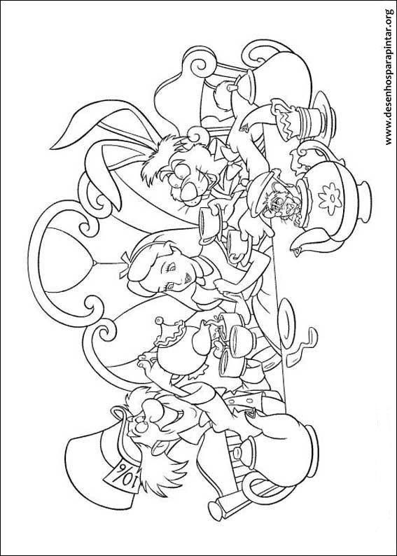 Alice no Pa s das Maravilhas Desenhos