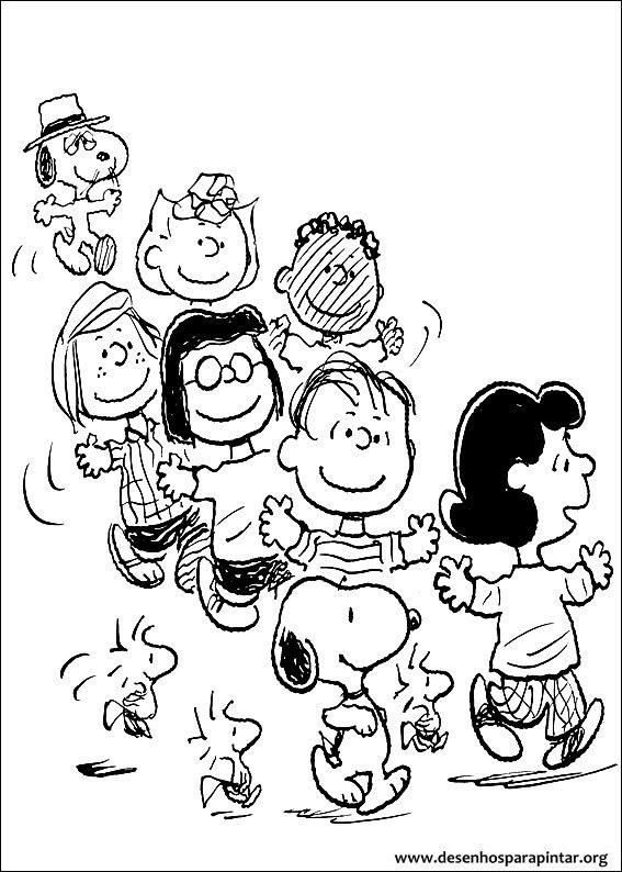 Snoopy Charlie Brown Desenhos Para Imprimir Pintar E Colorir