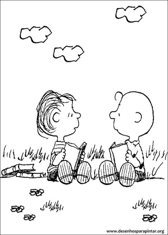 Snoopy Charlie Brown Desenhos Para Imprimir Pintar E