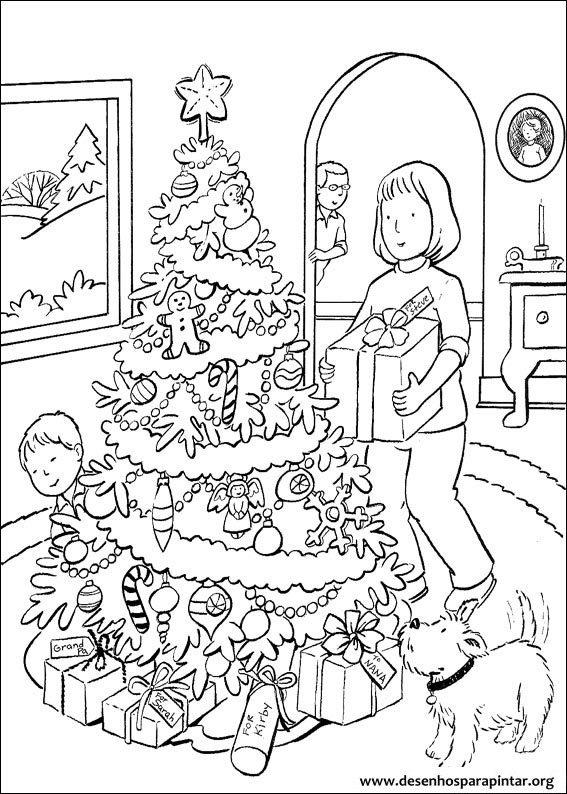 rvores de Natal para imprimir