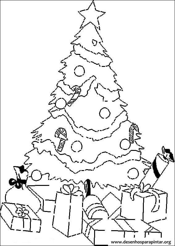 árvores De Natal Para Imprimir Colorir E Pintar Desenhos Para