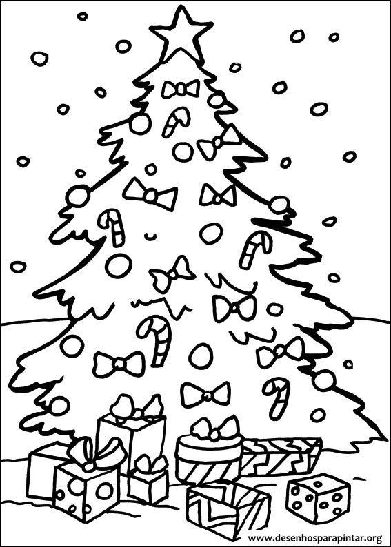 Arvores De Natal Para Imprimir Colorir E Pintar Desenhos Para