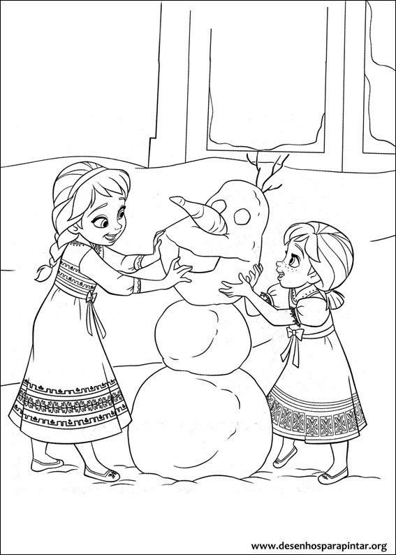 Frozen O Reino Do Gelo Desenhos Para Imprimir Colorir E Pintar