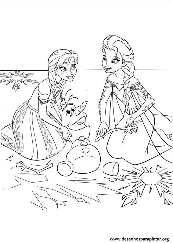 Frozen O Reino Do Gelo Desenhos Para Imprimir Colorir E
