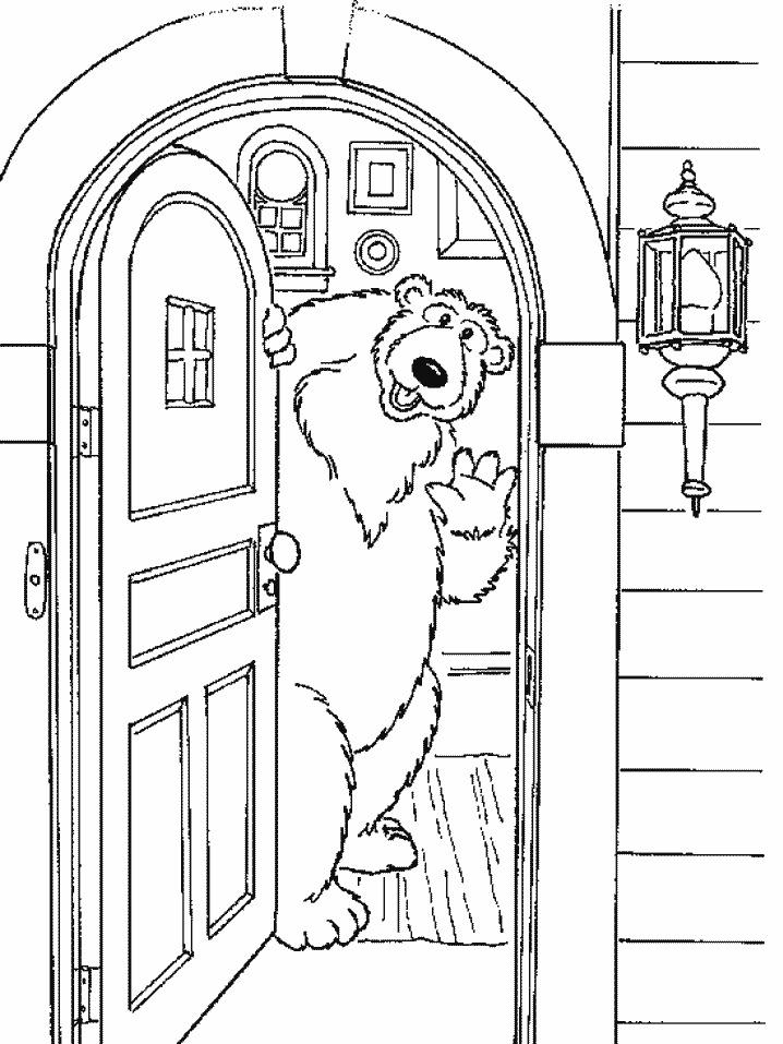 Urso Na Casa Azul Desenhos Para Imprimir Pintar E Colorir