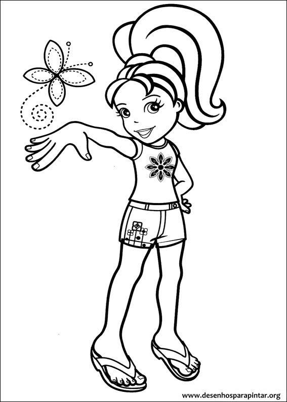 Muito Bonecas Polly Pocket desenhos para imprimir pintar e colorir  WY17