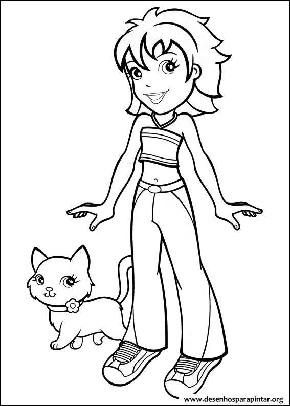 Bonecas Polly Pocket desenhos para