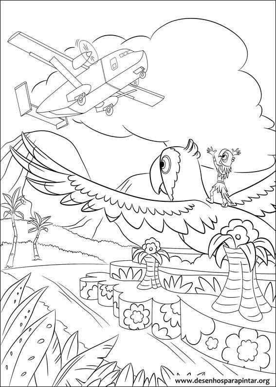 Rio Da Disney Pixar Desenhos Para Imprimir Colorir E Pintar
