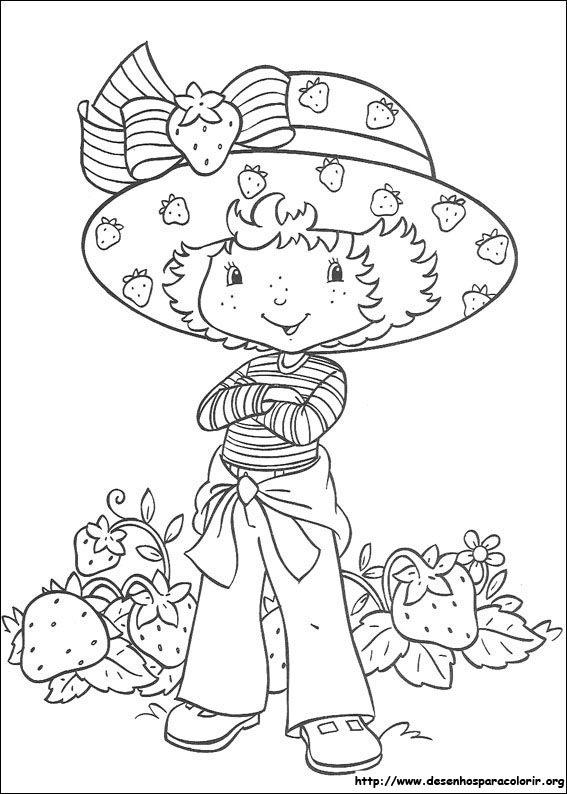 Boneca Moranguinho E Sua Turma Desenhos Para Colorir Imprimir E