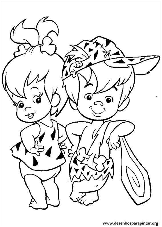 Os Flintstones Desenhos Para Imprimir Colorir E Pintar Do Fred