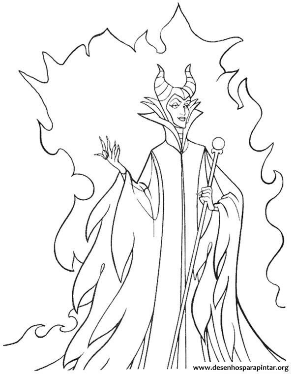 Malevola A Bruxa Malvada Da Bela Adormecida Desenhos Para