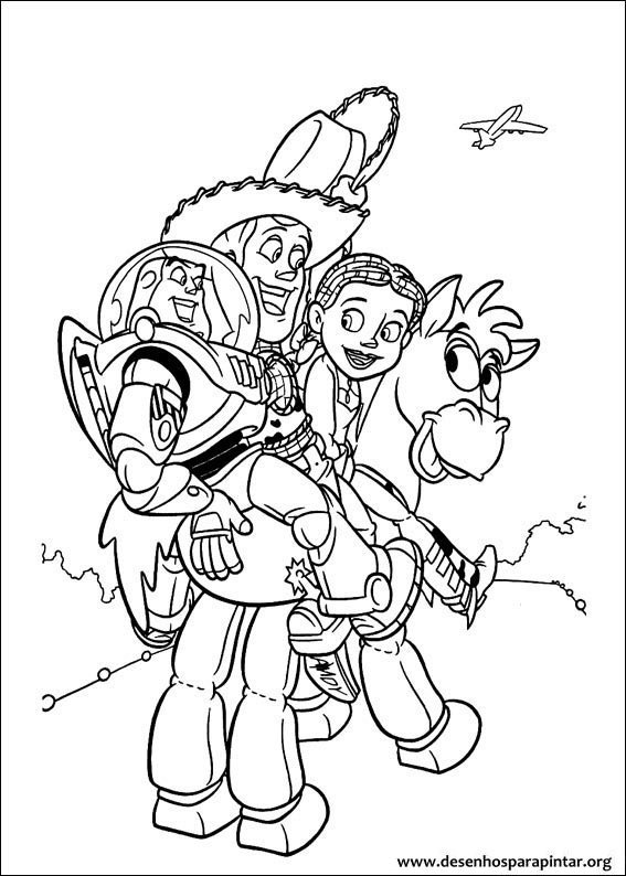 toy story coloring pages rexburg - photo#8