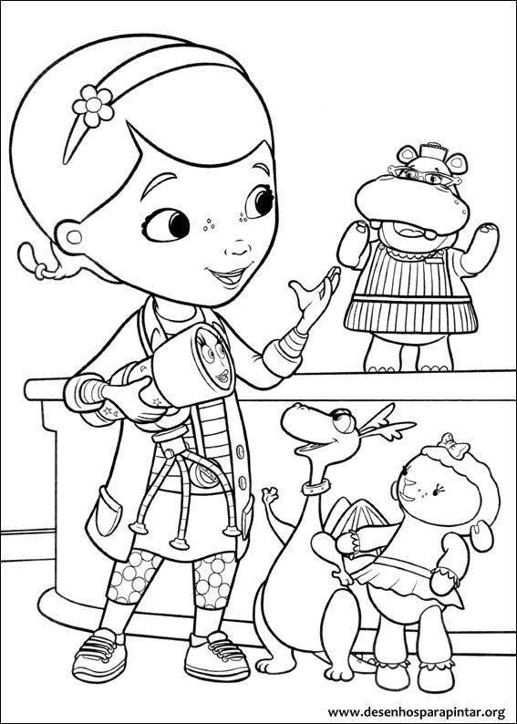 Doutora Brinquedos Desenhos Para Imprimir Colorir E Pintar Gratis