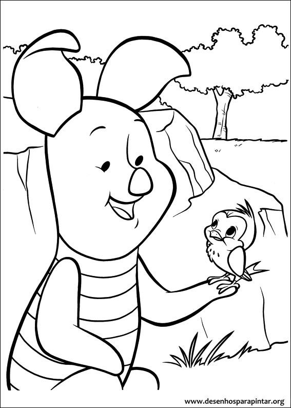 Santa Winnie The Pooh Color Pages
