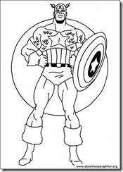 Capitão América – desenhos para imprimir colorir e pintar