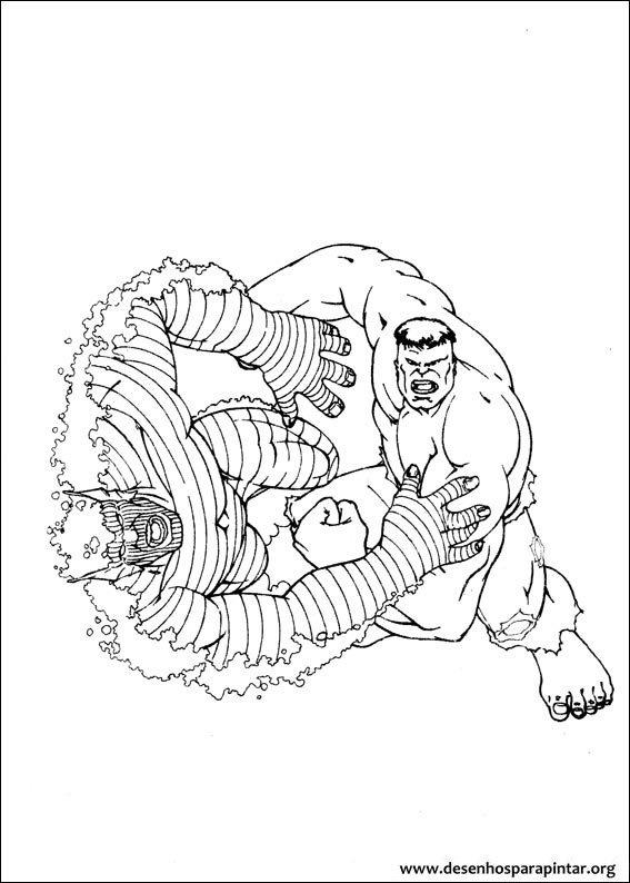 Hulk desenhos para imprimir pintar