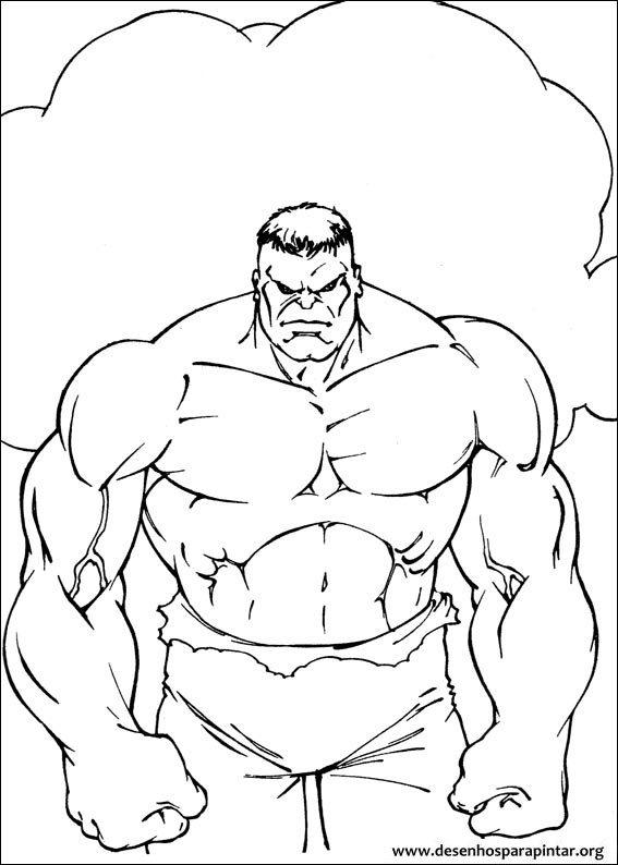 hulk desenhos para imprimir pintar e colorir do super herói verde