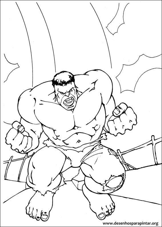 Hulk desenhos para imprimir pintar e colorir do super - Papel de pared para pintar ...