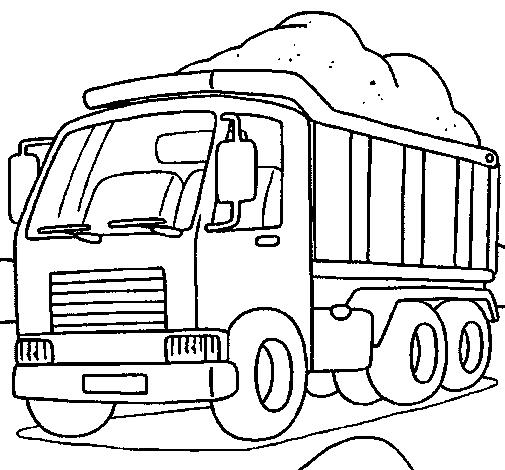 desenhos de caminhões para imprimir colorir e pintar desenhos para