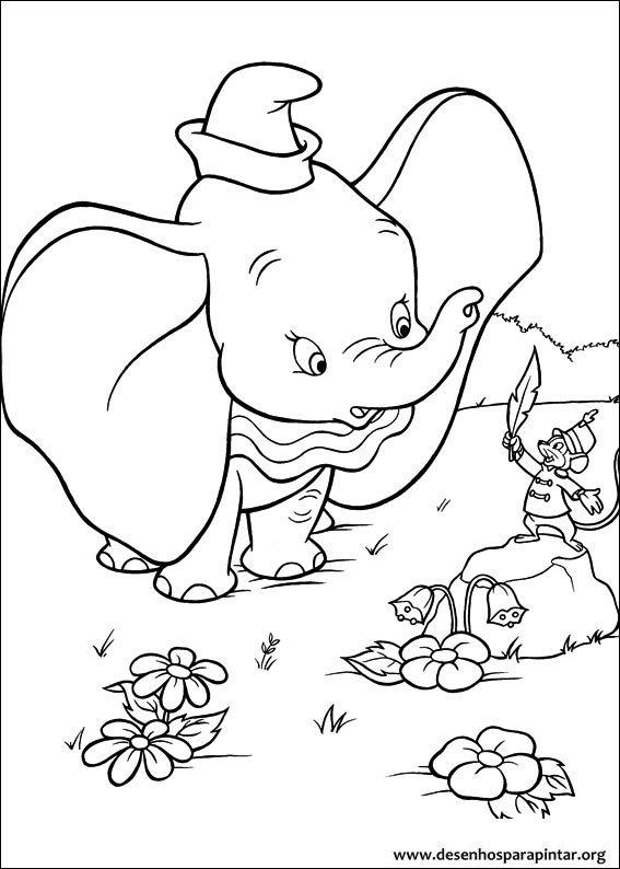 Dumbo O Elefante Da Disney Desenhos Para Imprimir Colori E