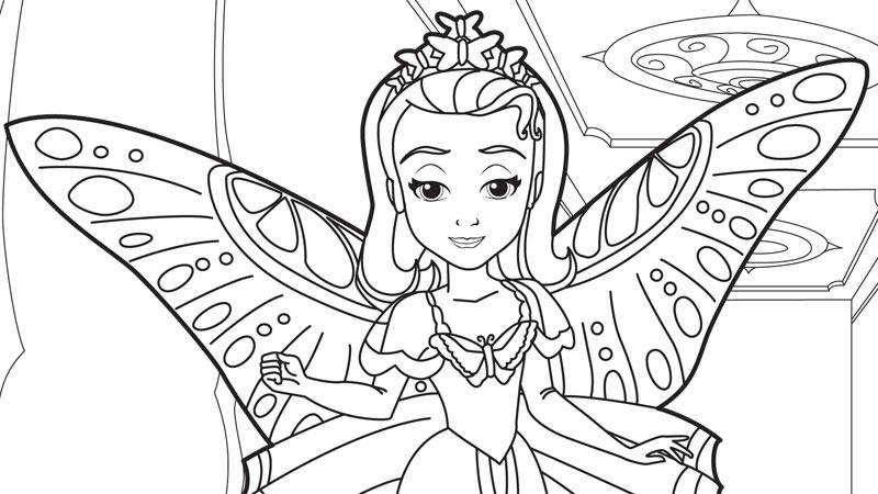 Princesa Sofia Para Colorear E Imprimir