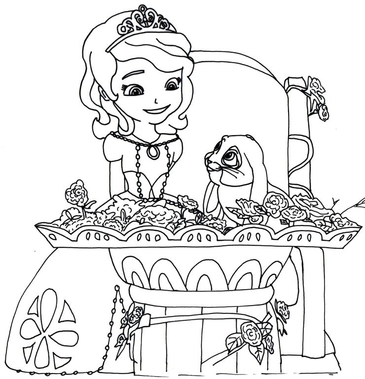 Princesa Sofia Da Disney Desenhos Para Imprimir Colorir E
