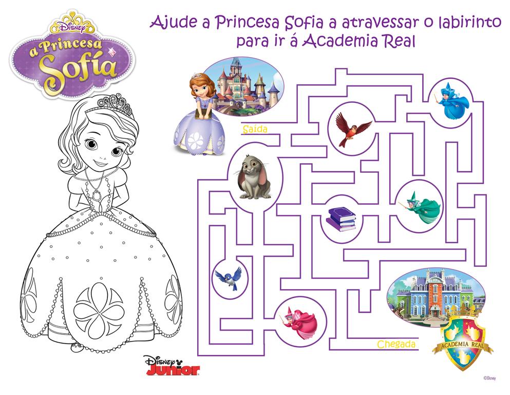 Jogo Princesa Sofia Da Disney Desenhos Para Imprimir