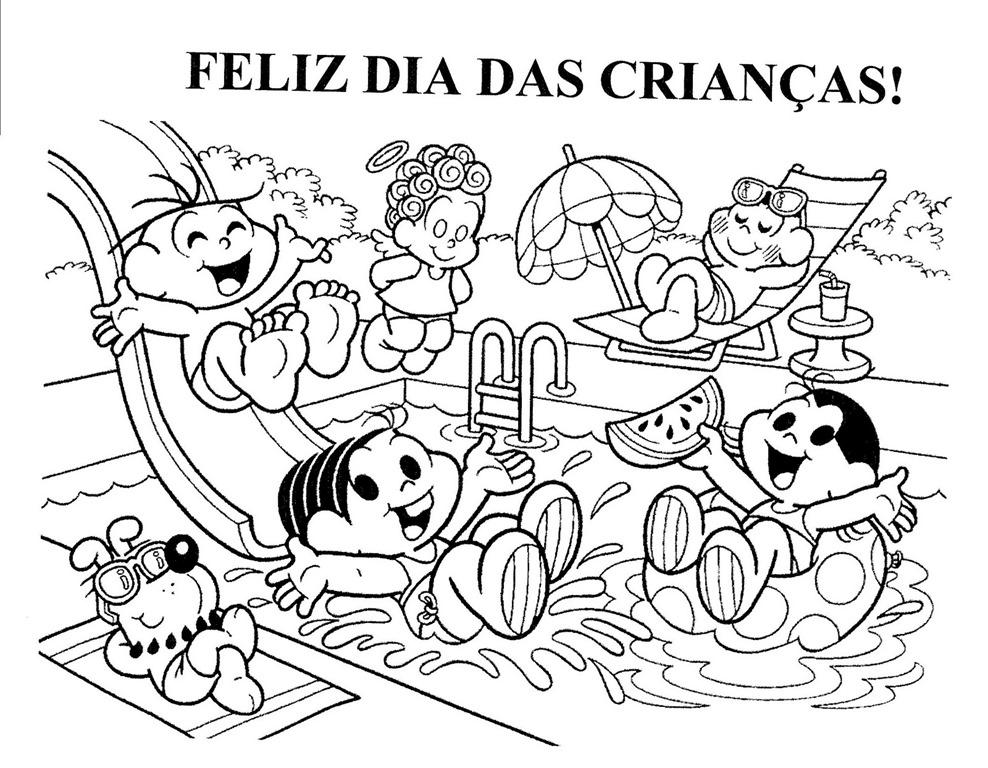 Feliz Dia Das Criancas Desenhos Para Imprimir Colorir E Pintar
