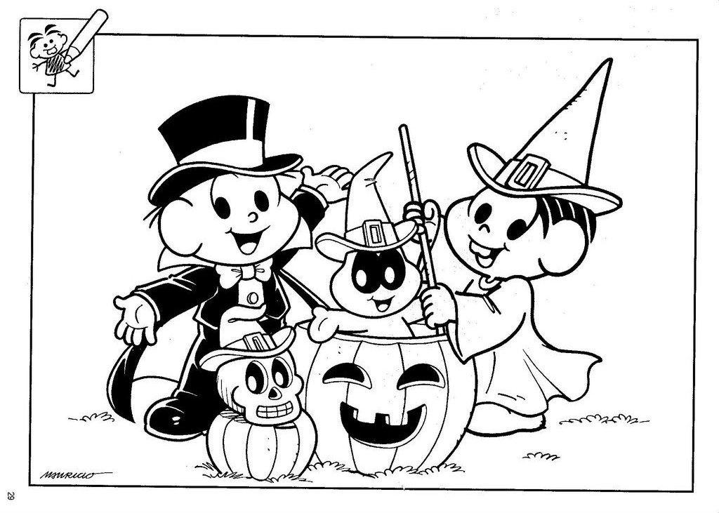 Turma Da Monica E O Dia Das Bruxas Halloween Desenhos Para