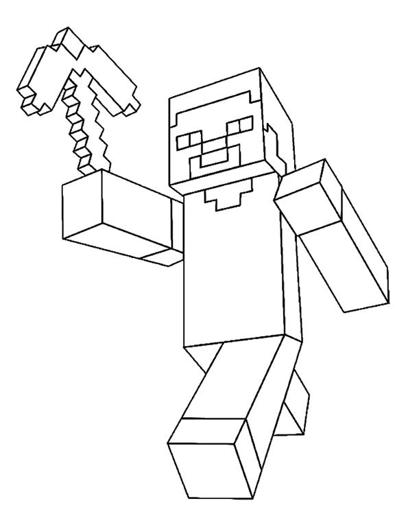 Minecraft Desenhos Para Colorir Imprimir E Pintar Do
