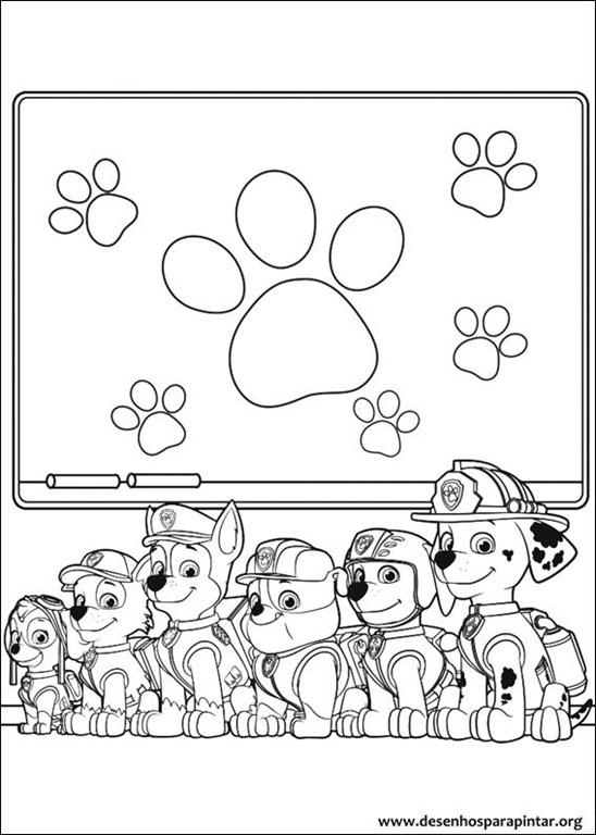 Patrulha Canina Desenhos Para Colorir Imprimir E Pintar Do