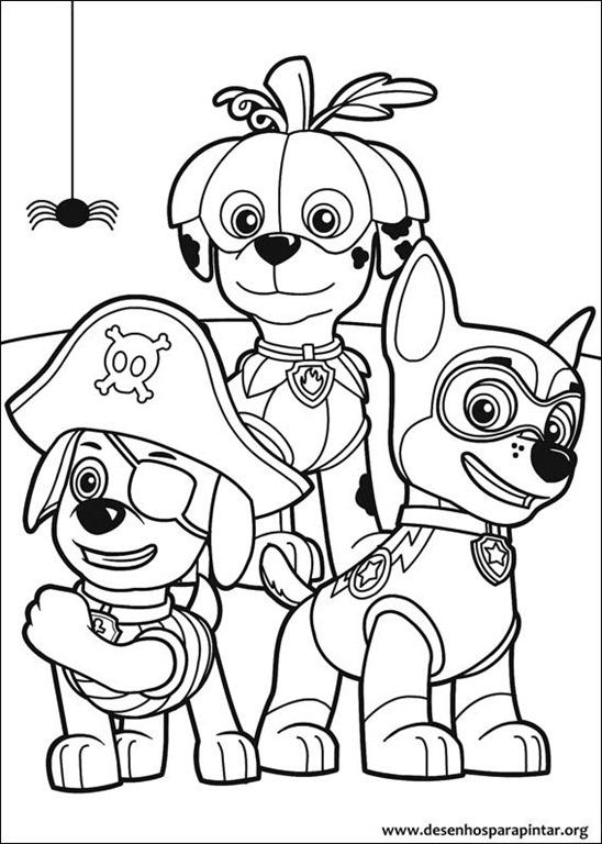 Amado Patrulha Canina desenhos para colorir imprimir e pintar do Mundo  VI74