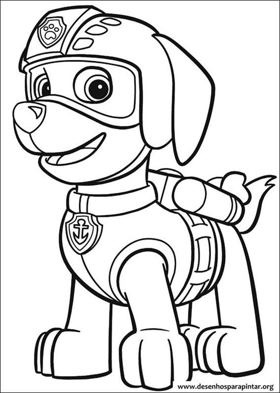 Patrulha Canina Desenhos Para Colorir Imprimir E Pintar Do Mundo