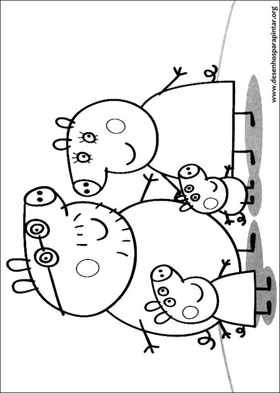 Novos Desenhos Da Peppa Pig E George Para Imprimir Colorir E