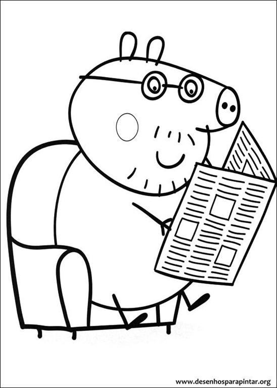 Desenhos - Peppa pig de pintar