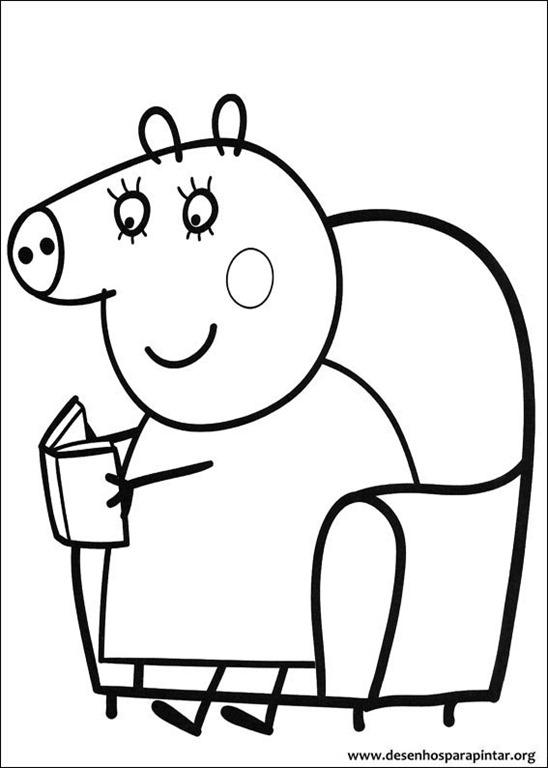 Novos desenhos da Peppa Pig e George para imprimir colorir e pintar