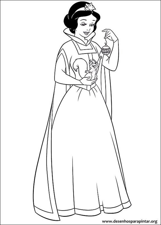Princesas Disney Natal Desenhos Para Colorir Imprimir